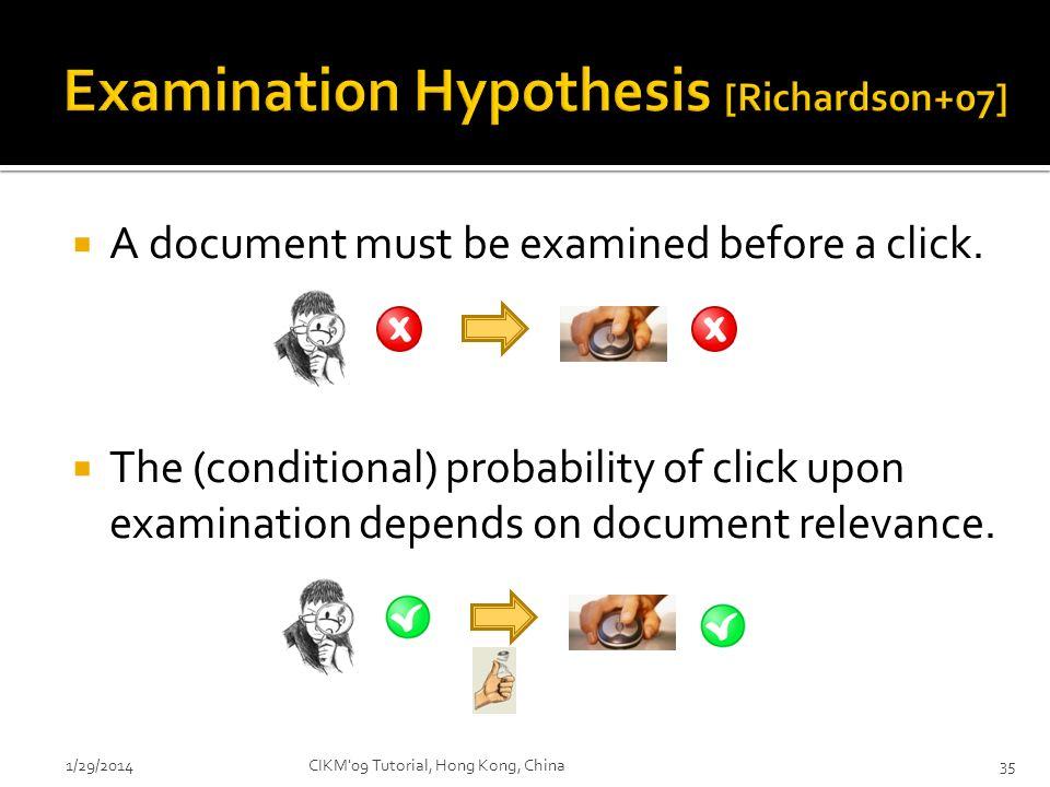 Examination Hypothesis [Richardson+07]